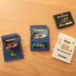 デジタルカメラのメモリカードは容量より数