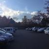 無料で利用できる「あがたの森公園」駐車場を活用する