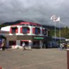 緑豊かなドッグランを備えた駒ヶ岳サービスエリア